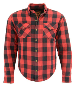 Milwaukee Performance MPM1631 Men's Armored Checkered Flannel Biker Shirt with Aramid® by DuPont™ Fibers