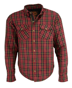 Milwaukee Performance MPM1632 Men's Armored Checkered Flannel Biker Shirt with Aramid® by DuPont™ Fibers