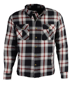 Milwaukee Performance MPM1635 Men's Armored Biker Flannel Biker Shirt with Aramid® by DuPont™ Fibers