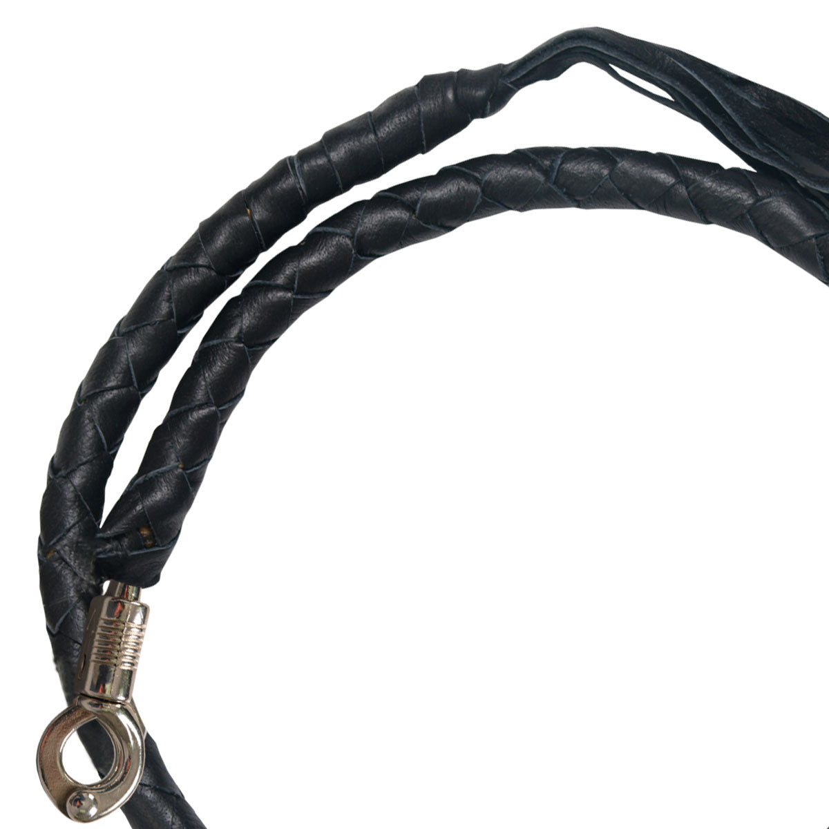 "Hot Leathers ""Get Back"" Genuine Leather Whip"