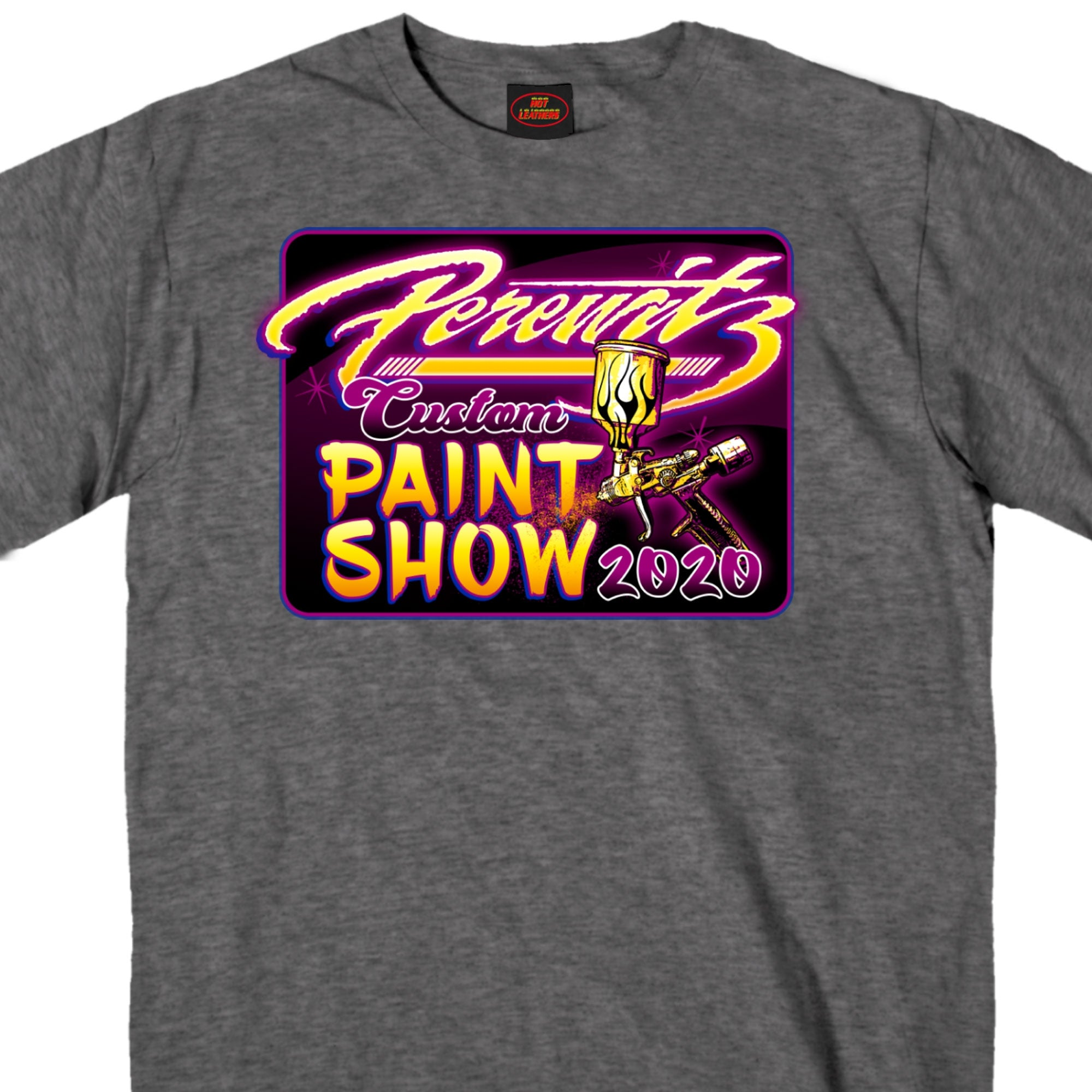 Official 2020 Perewitz Custom Paint Show Heather Charcoal T-Shirt
