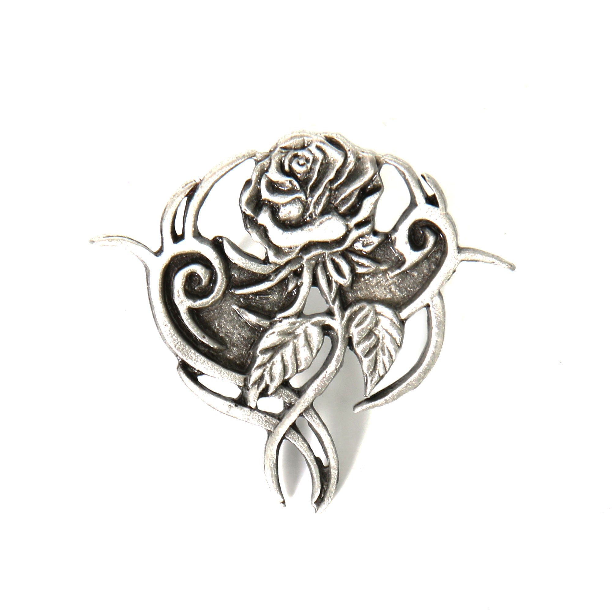 Hot Leathers Tribal Rose Pin