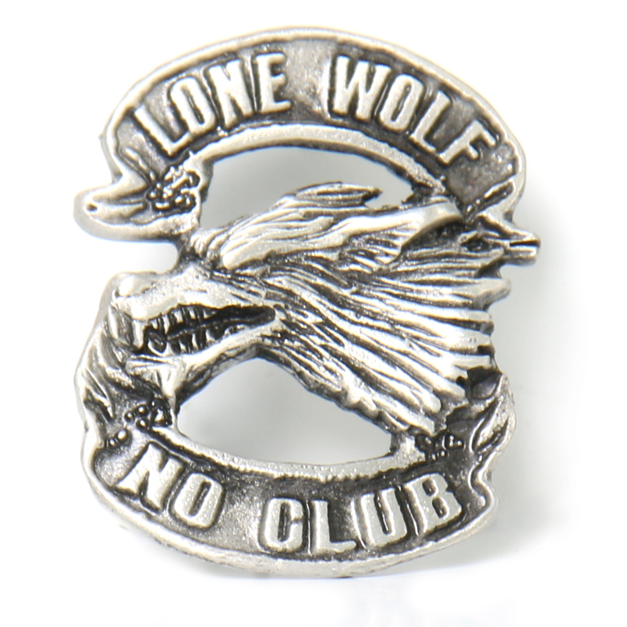 Hot Leathers Lone Wolf Pin