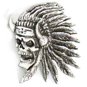 Hot Leathers Indian Skull Pin