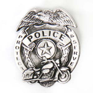 Hot Leathers Police Badge Pin