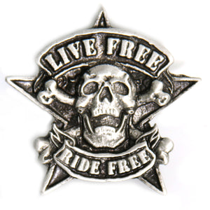 Hot Leathers Camo Skull Pin