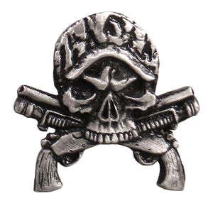 Hot Leathers Camo Skull Guns Pin