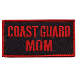 "Hot Leathers 4"" x 2"" Coast Guard Mom Patch"