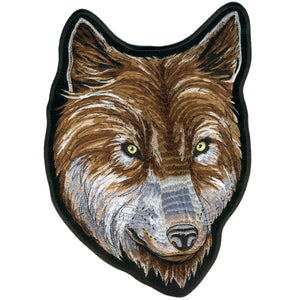 "Hot Leathers Wolf Face Biker 2"" x 3"" Patch"