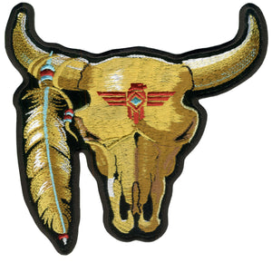 "Hot Leathers Cattle Skull 3"" x 3"" Patch"