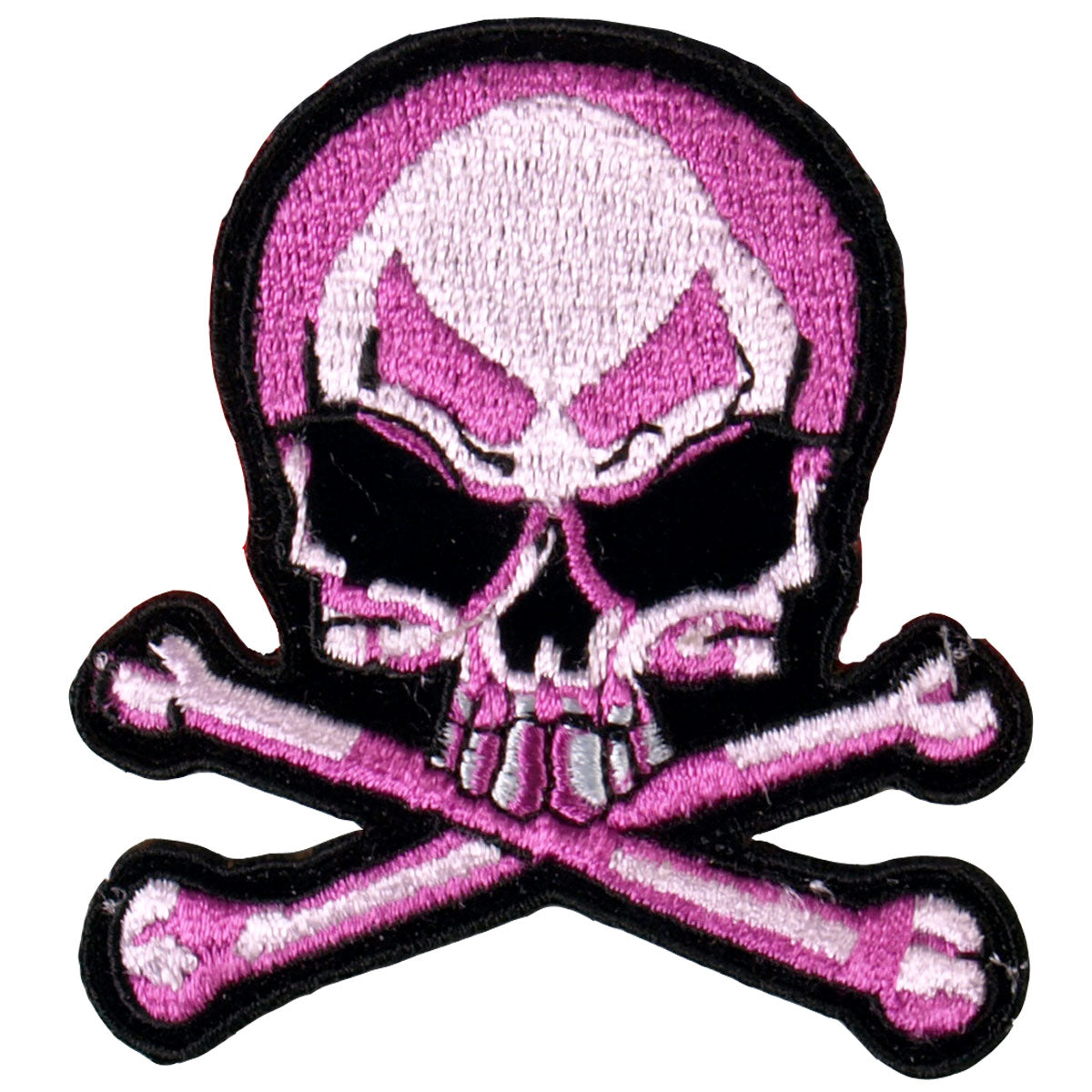 "Hot Leathers Pink Skull and Crossbones 3"" x 3"" Patch"