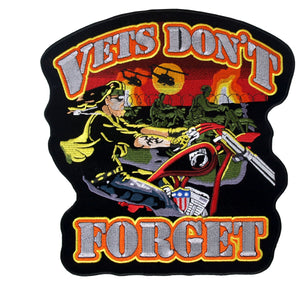 "Hot Leathers 11"" x 12"" Vets Don't Forget Patch"