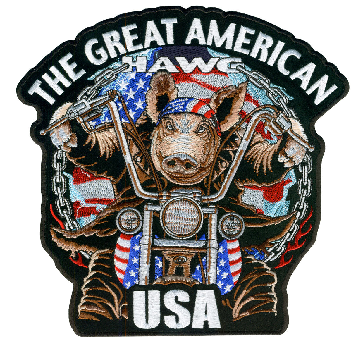 "Hot Leathers Great Amerian Hawg 4"" x 4"" Patch"