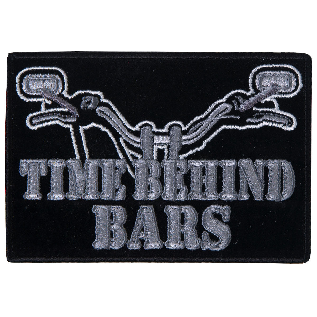"Hot Leathers Time Behind Bars 4"" x 3"" Patch"