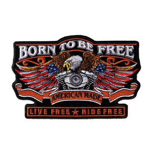 "Hot Leathers 5"" x 3"" Born Free Eagle Patch"