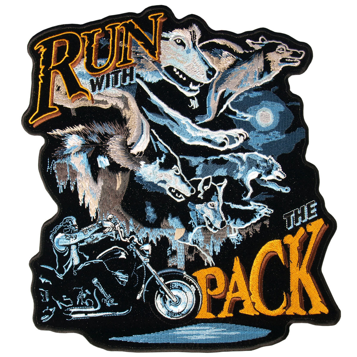 "Hot Leathers Run With The Pack Wolf 5"" x 5"" Patch"