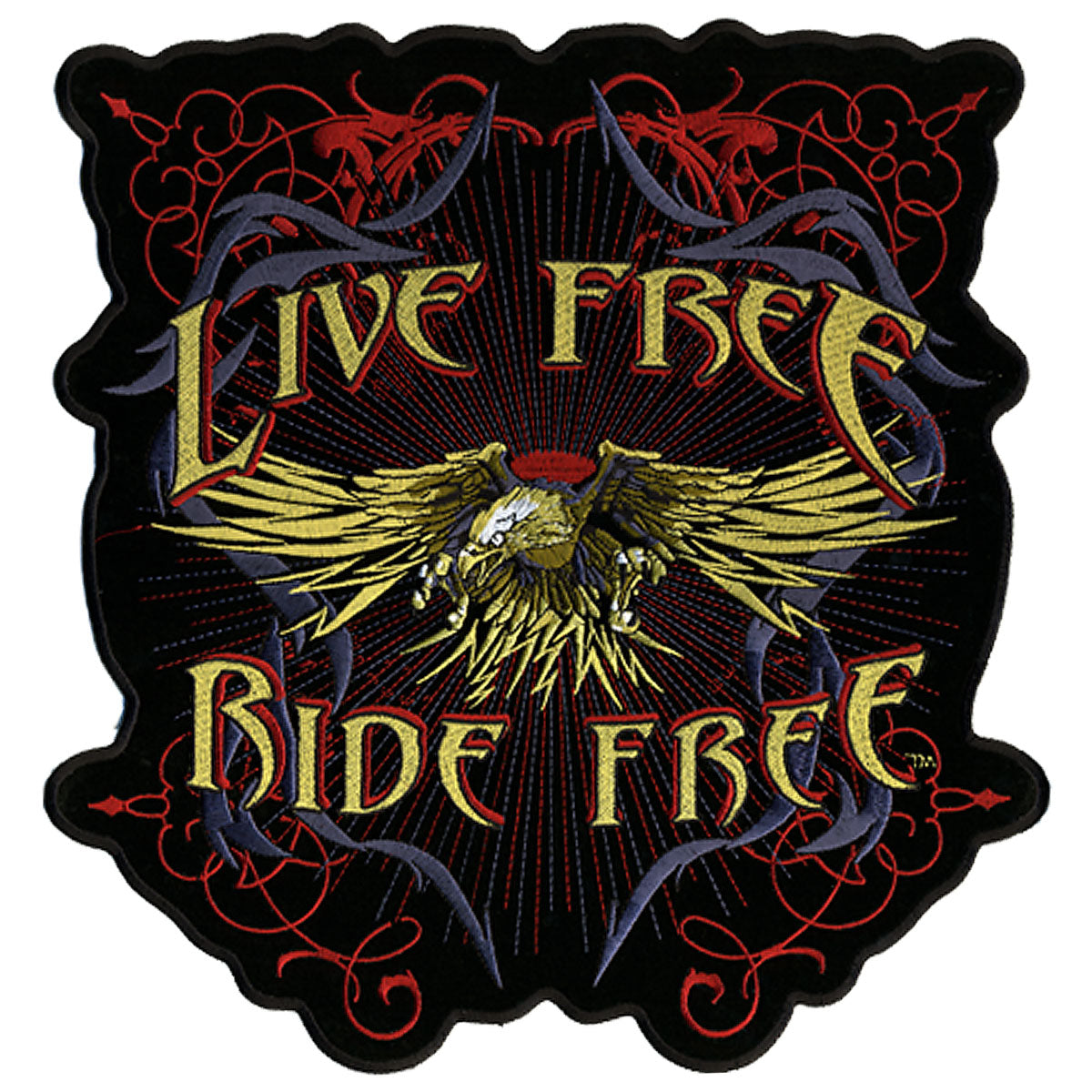 "Hot Leathers Evil Eagle Live Free 12"" x 12"" Patch"