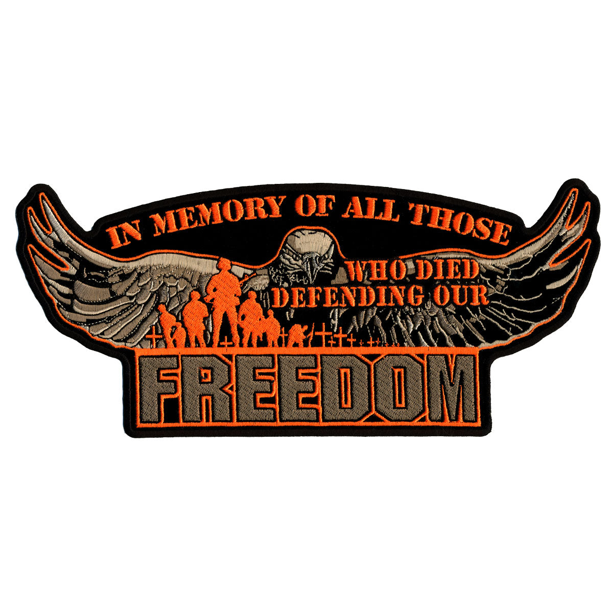"Hot Leathers Defending Our Freedom 11"" x 5"" Patch"