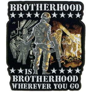 "Hot Leathers Brotherhood Wherever You Go 10"" x 11"" Patch"