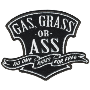 "Hot Leathers Gas; Grass or Ass 4"" x 3"" Patch"