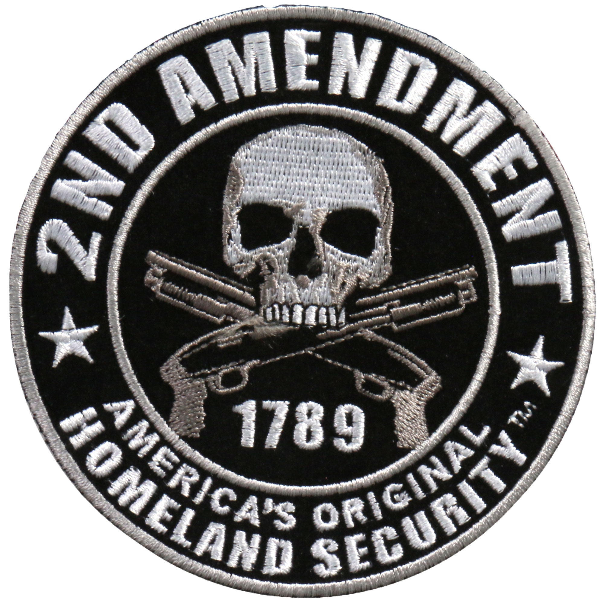 "Hot Leathers 4"" Second Amendment Homeland Security Patch"