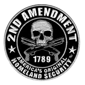 "Hot Leathers 2nd Amendment America's Original Homeland Security Embroidered 9"" x 9"" Patch"