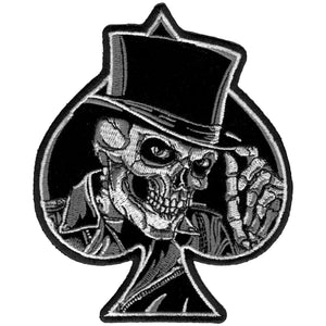 "Hot Leathers 4"" Top Hat Skull Patch"