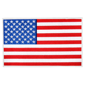 "Hot Leathers American Flag White Border 3"" x 2"" Patch"