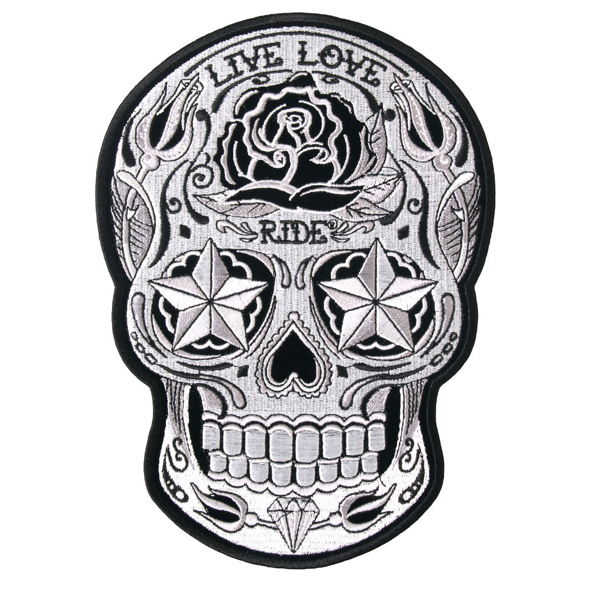 Hot Leathers Patch Sugar Skull 4""