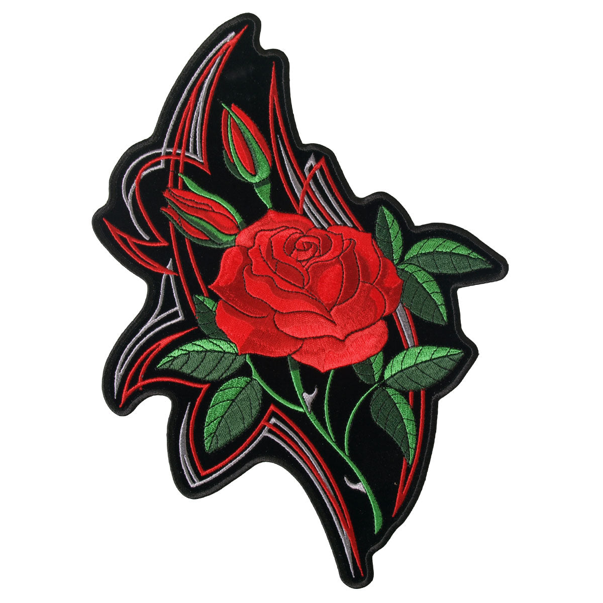 Hot Leathers Patch Mirror Roses 4""