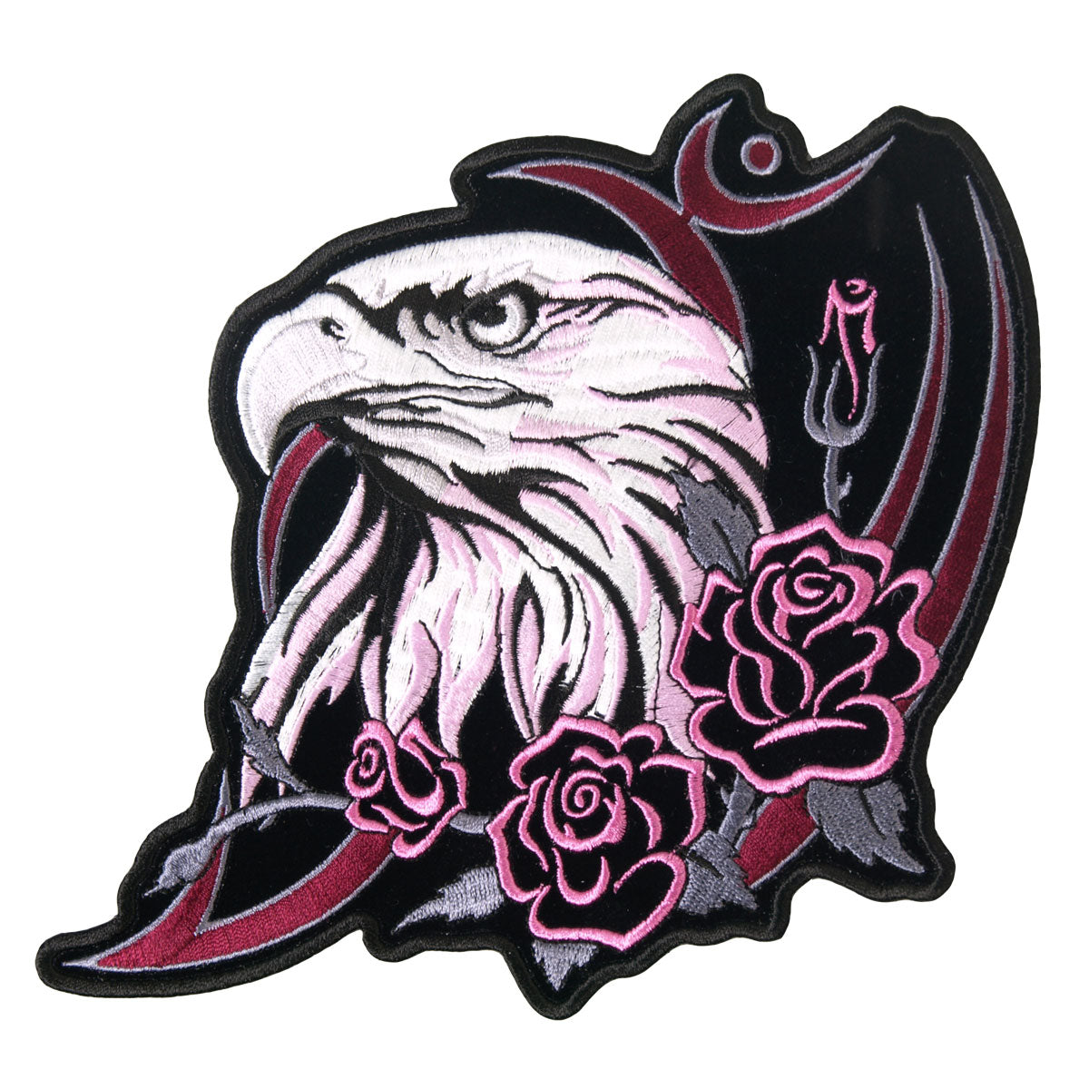 Patch Glitter Eagle Head 4""