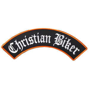 "Hot Leathers Christian Biker Rocker 10"" x 2"" Patch"