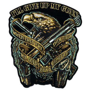 "Hot Leathers Eagle Guns 9"" x 11"" Patch"