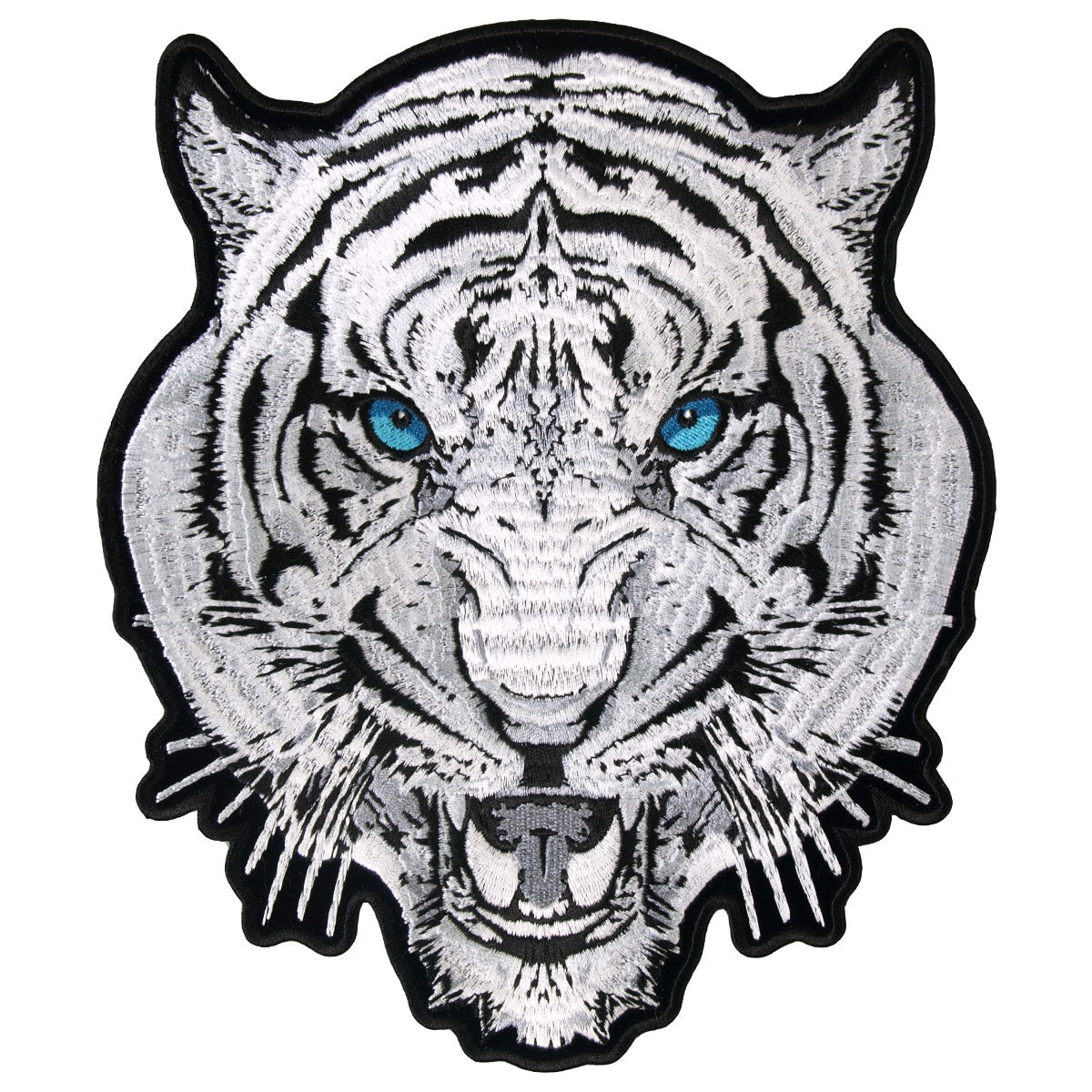 "Hot Leathers White Tiger 8"" x 9"" Patch"