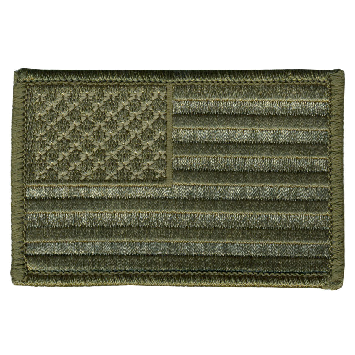"Hot Leathers Woodland Style American Flag 3"" x 2"" Patch"