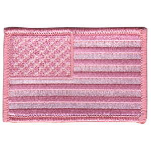 "Hot Leathers Pink American Flag 3"" x 2"" Patch"