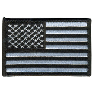 "Hot Leathers 5"" x 3"" Black and White American Flag Patch"