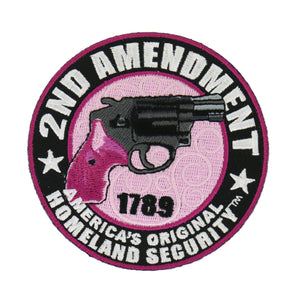 "Hot Leathers Ladies 2nd Amendment America's Original Homeland Security 3.5"" x3.5"" Patch"