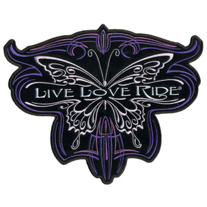"Hot Leathers Metallic Butterfly 10"" x 8"" Patch"