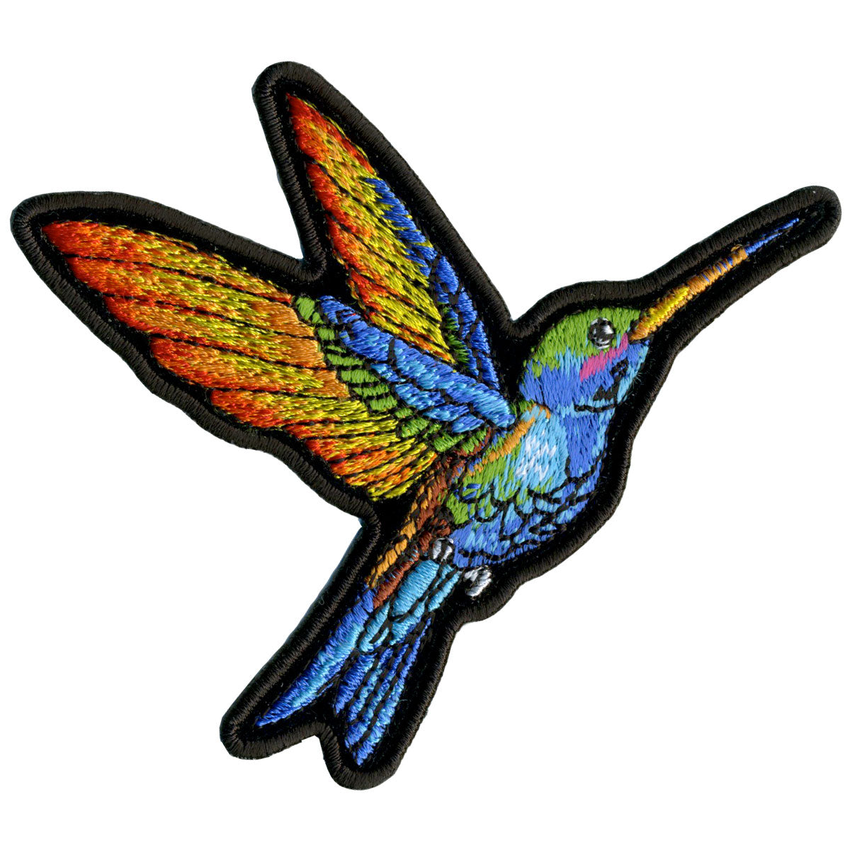 "Hot Leathers Small Hummingbird 4"" x 3.5"" Patch"