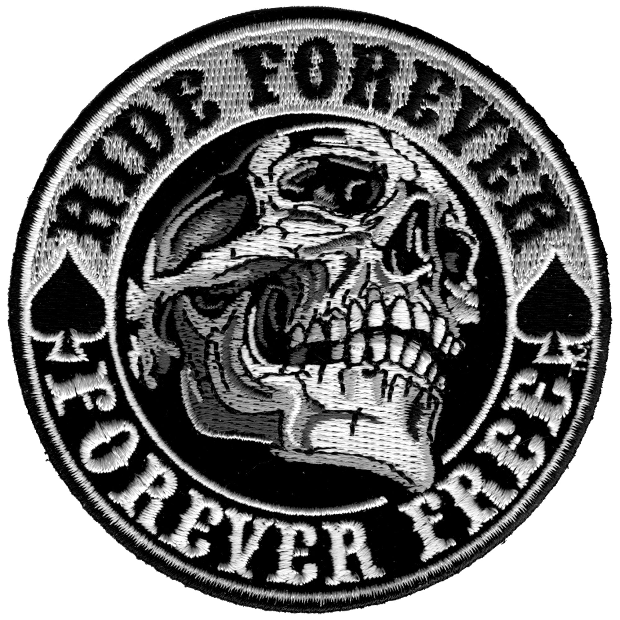 "Hot Leathers 3.5"" Ride Forever Skull Patch"