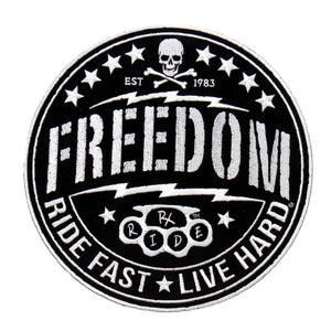 "Hot Leathers Freedom Ride Fast Live Hard 9"" Patch"