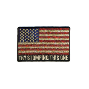 "Hot Leathers Try Stomping This One 4""x3"" Patch"