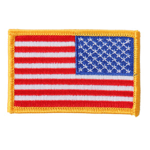 "Hot Leathers Yellow Border Right Arm Flag 3""x2"" Patch"