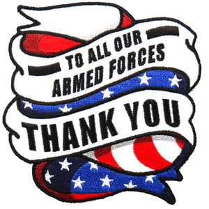 "Hot Leathers To All Our Armed Forces 4""x4"" Patch"