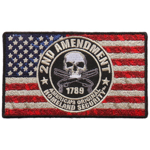 "Hot Leathers 2nd Amendment Flag 4""x2"" Patch"
