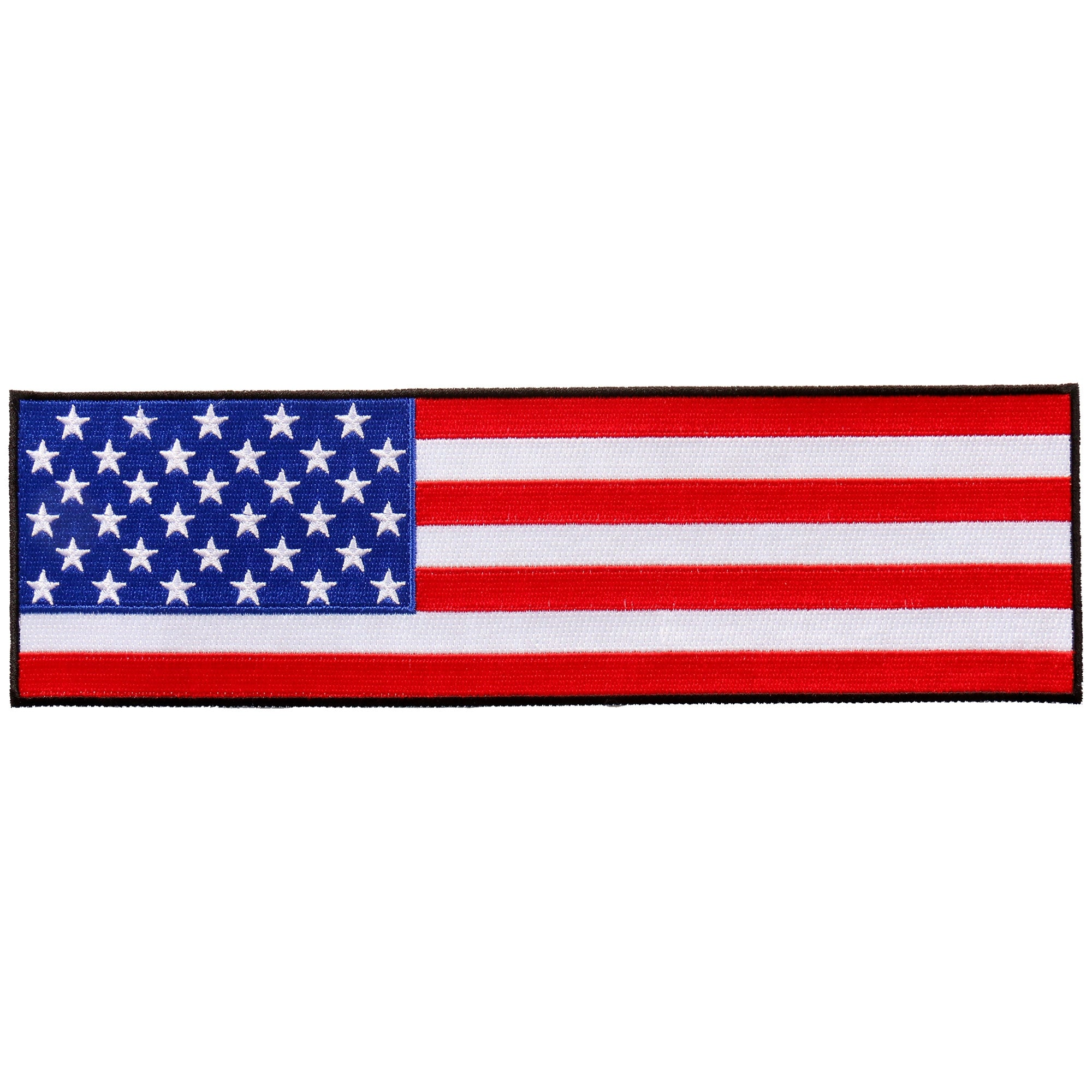 "Hot Leathers Cropped American Flag 10""x3"" Patch"