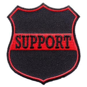 "Hot Leathers Support Red 3""x3"" Patch"