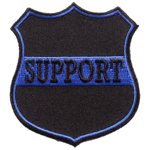 "Hot Leathers Support Blue 3""x3"" Patch"