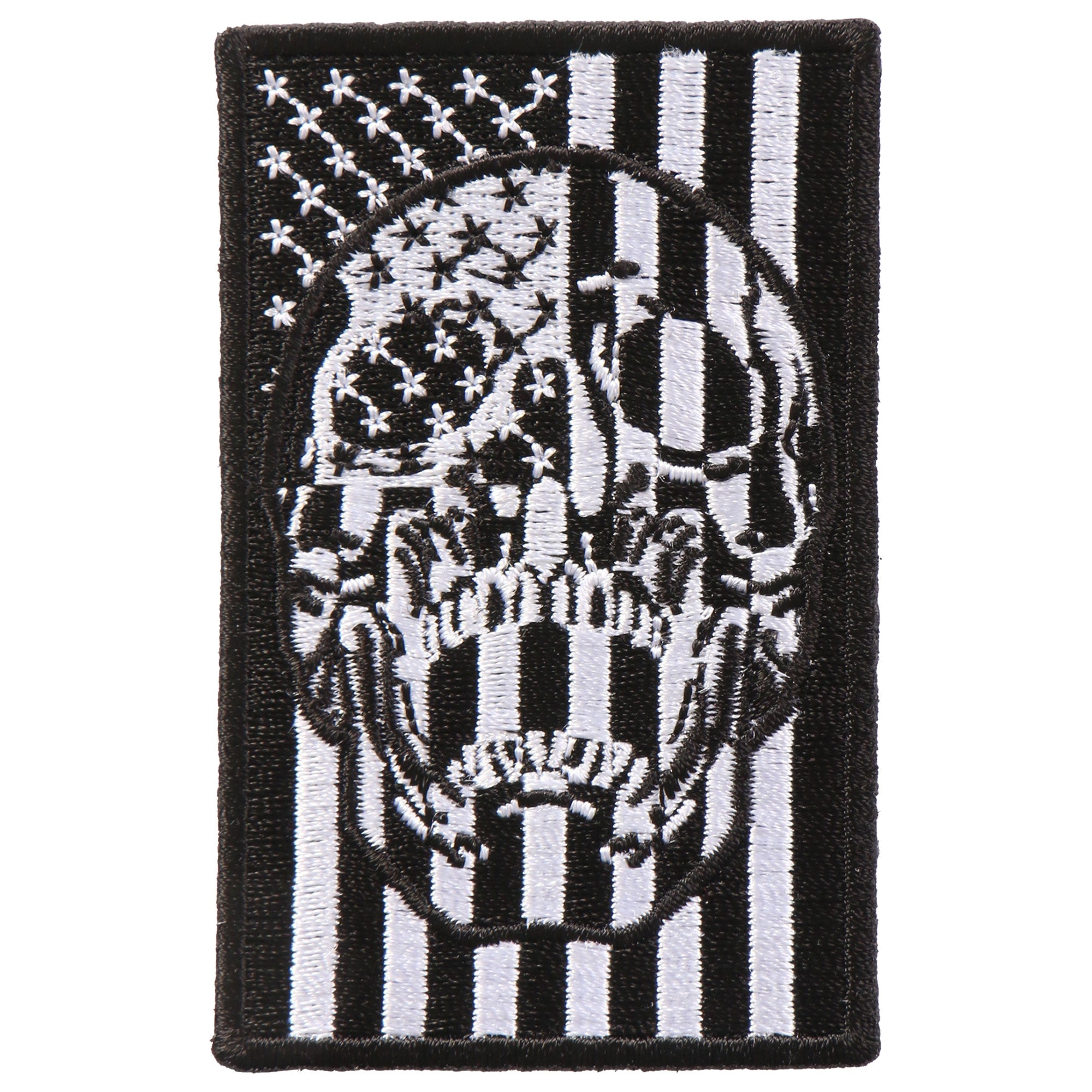 "Hot Leathers American Flag Skull 2""x3"" Patch"